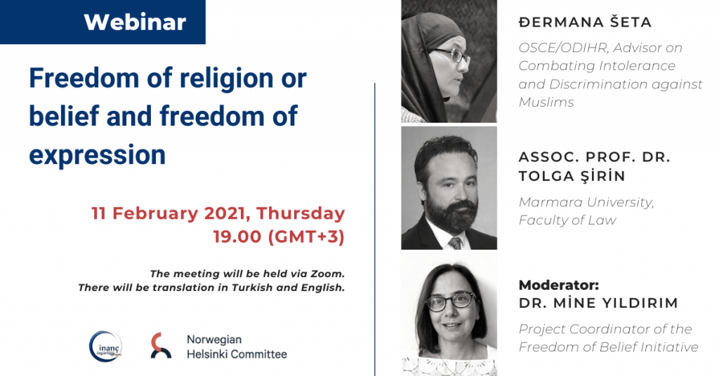 "WEBINAR INVITATION: ""Freedom of religion or belief and freedom of expression"""